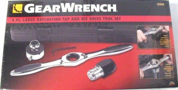 GearWrench 82806 Large Ratcheting Tap amp; Die Driver Set