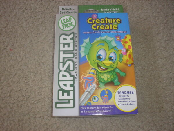 New Leap Frog Leapster Creature Create Teaches Creativity Vocabulary Plus More