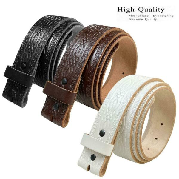 85 Vintage Genuine Leather Belts -Black Brown and White 1.5