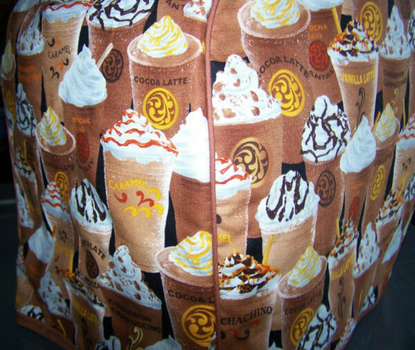 Iced Coffee Mocha Latte Quilted Fabric Keurig Platinum Brewer Cover NEW
