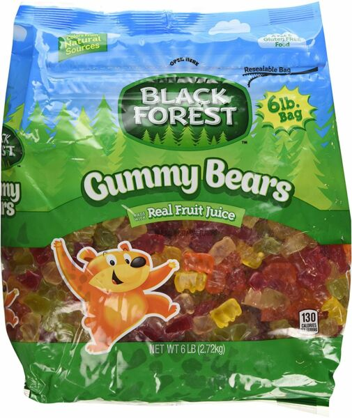 Black Forest Gummy Bears 6lb 2.72kg 5fruit flavor candy Ferrara Pan gummi haribo