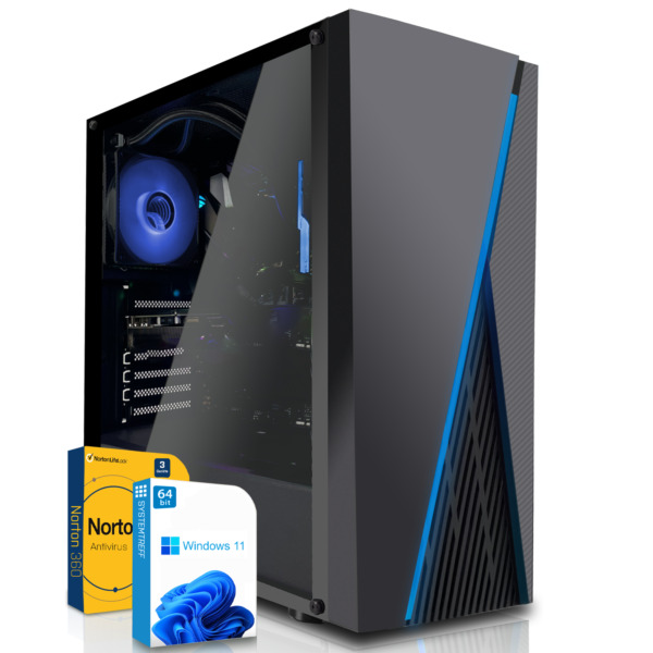 Komplett PC Gamer Win 10 AMD A8 7650K 10 Core Quad Core Computer 8 GB 1000 GB