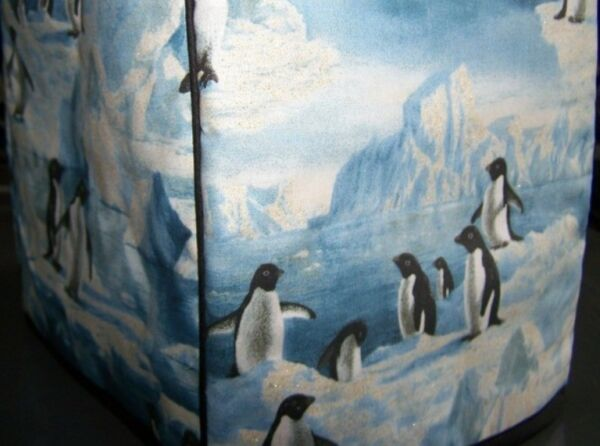 Penguins on Ice Quilted Fabric 2 Slice or 4 Slice Toaster Cover NEW