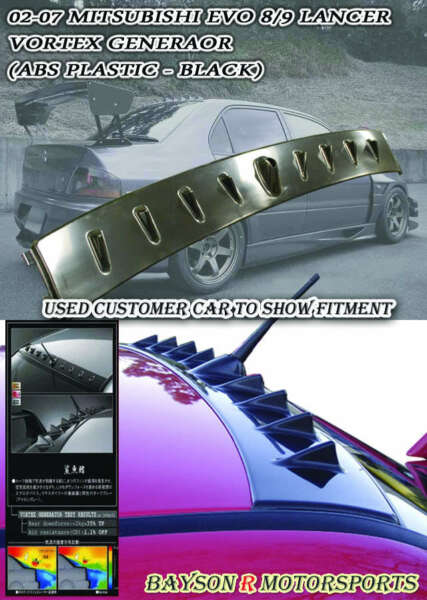 VG-Style Rear Roof Spoiler Wing (ABS) Fits 01-07 Mitsubishi EVO 7 8 9