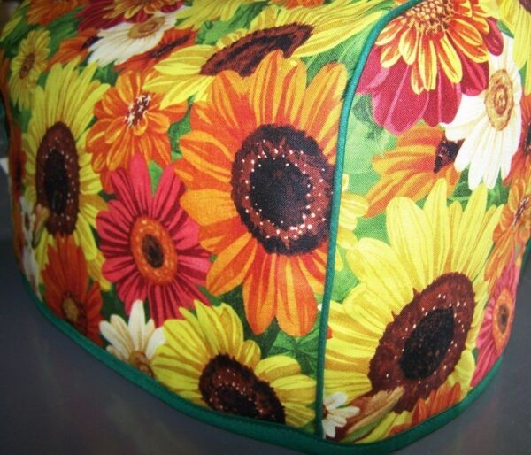 Fall Harvest Sunflowers Quilted Fabric 2 Slice or 4 Slice Toaster Cover NEW