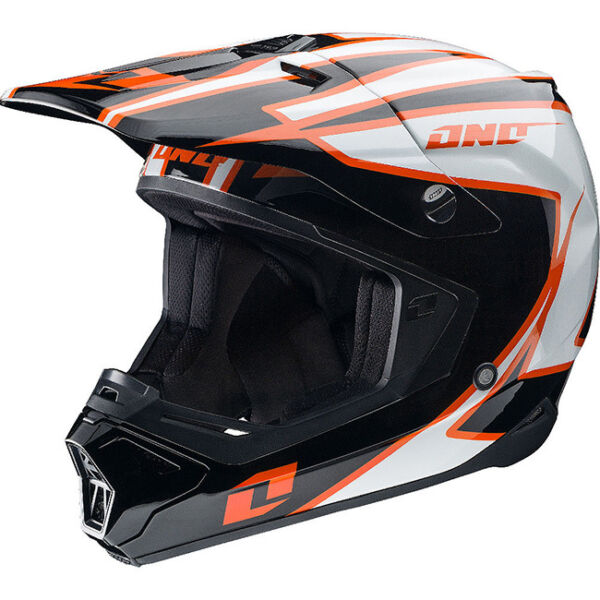 NEW ONE INDUSTRIES GAMMA CRYPTO  MX ATV BMX PREMIUM HELMET ADULT  SMALL BLACKOR