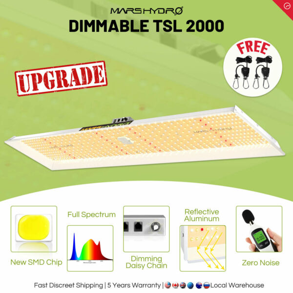 Mars Hydro TSL 2000W Led Grow Light Full Spectrum for Indoor Plants Veg Bloom IR