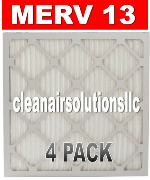 4 PACK - MERV 13 - FURNACE AC PLEATED AIR FILTERS - BEST QUALITY AND PRICE