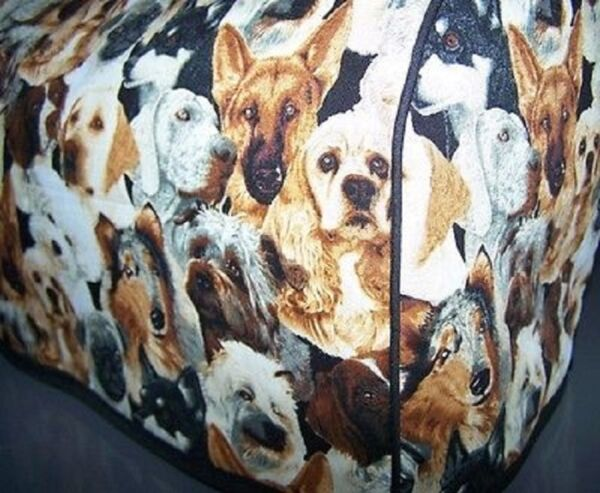Dog Puppy Breeds Quilted Fabric 2 Slice or 4 Slice Toaster Cover NEW