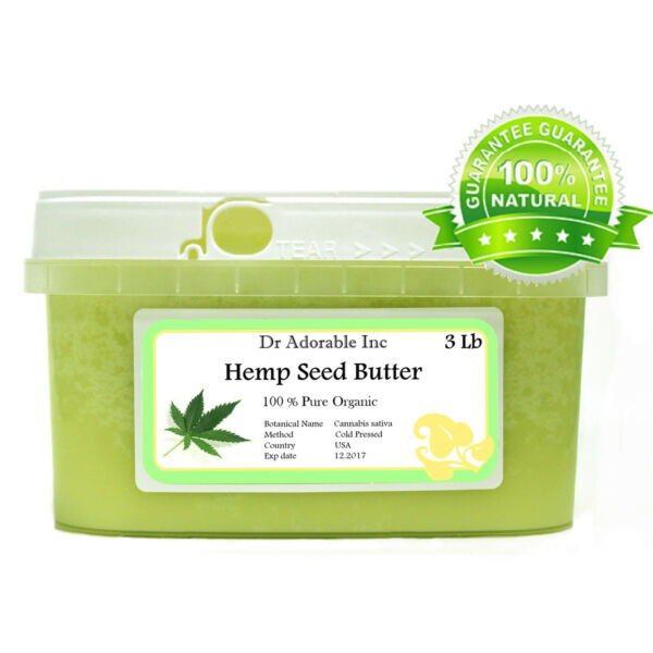 PURE HEMP SEED BUTTER ORGANIC FRESH COLD PRESSED NATURAL 2 OZ 4 OZ UP TO 12 LB