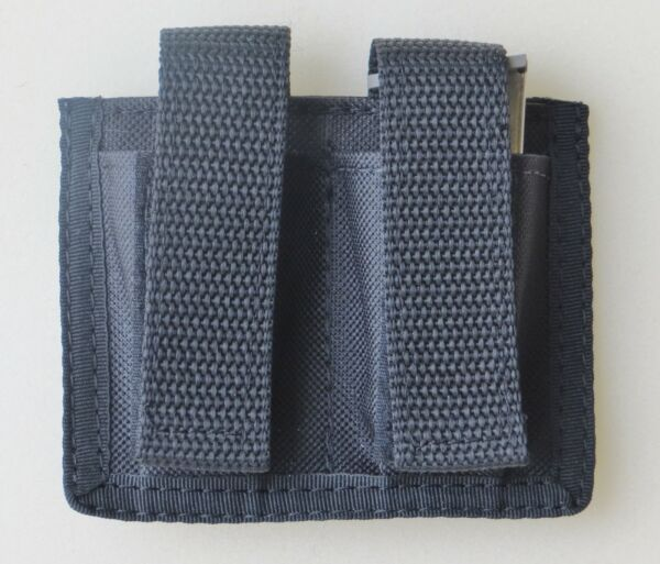 Black Double Magazine Pouch for Ruger LCP amp; Samp;W Bodyguard 380 Pistols Federal