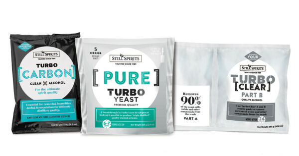 Still Spirits Triple Distilled Yeast Carbon Turbo Clear .Value Pack of 4 GBP 31.90