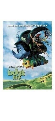 A BUG#x27;S LIFE MOVIE POSTER FLYING CAST 27x39 Disney Pixar