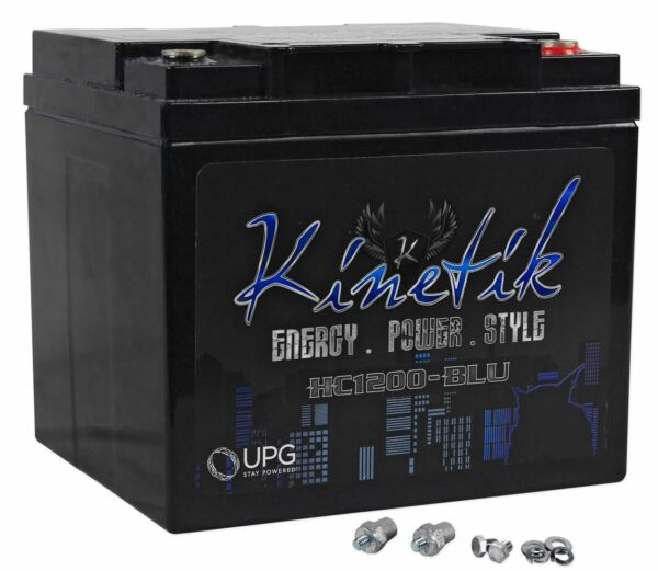 Kinetik HC1200-BLU 1200 Watt Blue Power Cell/Car Battery Audio System AGM HC1200