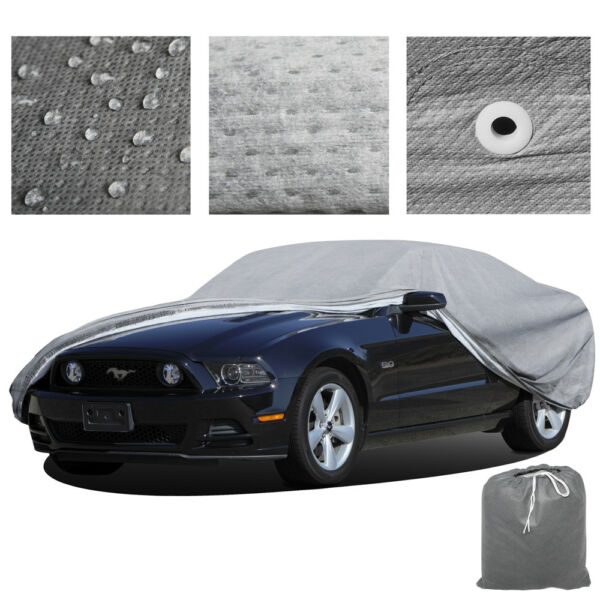 XL Large Full-size Car Cover Water Resistant Dust Leaf Snow Dirt Protector