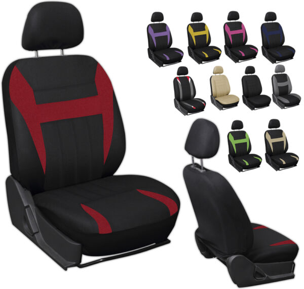 6PC Mesh Front Car Seat Headrest Cover Set Bucket Chair 11 Styles
