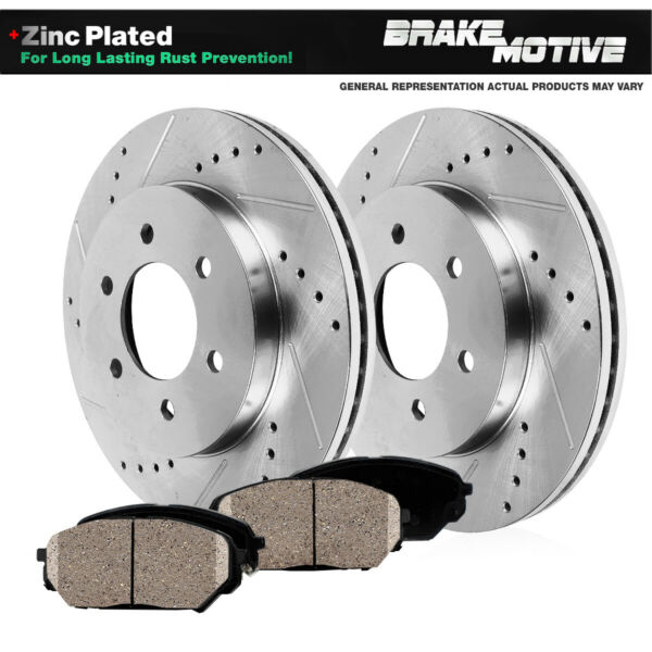Fits Front Drill And Slot Brake Rotors & Ceramic Pads Toyota 4Runner Tacoma