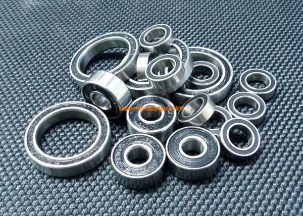 [BLACK] Rubber Sealed Ball Bearing Bearings Set FOR HPI 110 CYBER 10B 4WD BUGGY $12.08