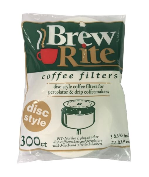 Round Coffee Filters for Percolators 3 to 3.5quot; Paper 300ct NEW