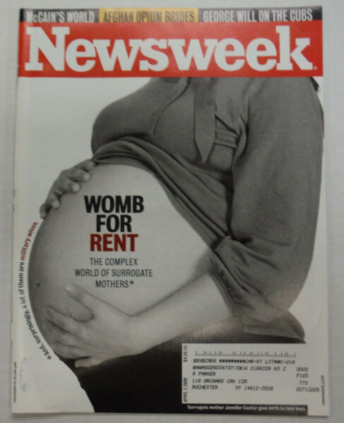 Newsweek Magazine Womb For Rent April 2008 052615R2