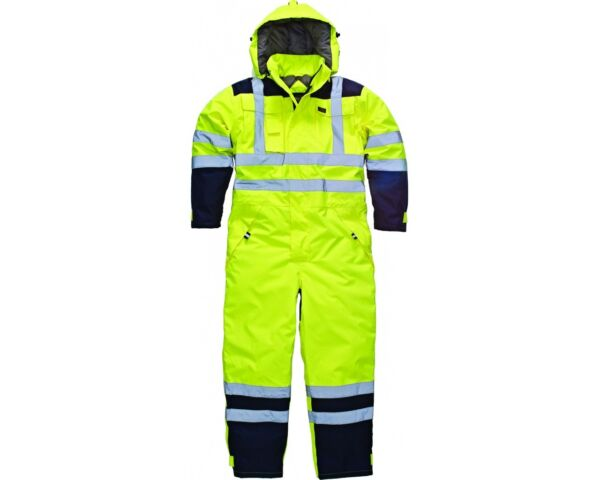 Dickies Recovery Coverall Boiler Suit Overall Auto Repair YELLOW Hi Vis M-XXL