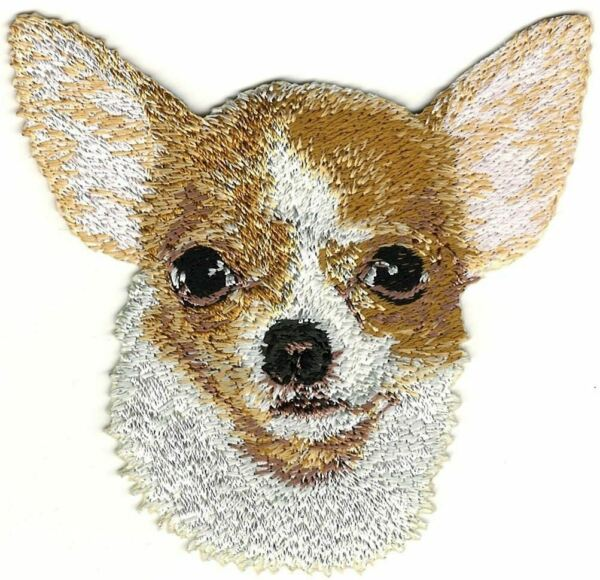3.25quot; Chihuahua Portrait Dog Breed Embroidery Patch $5.99