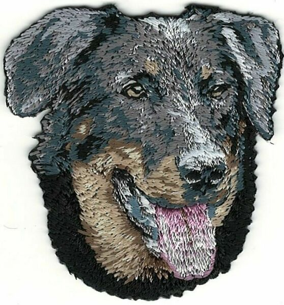 2 1 8quot; x 2 1 4quot; Beauceron Dog Breed Portrait Embroidery Patch $3.25