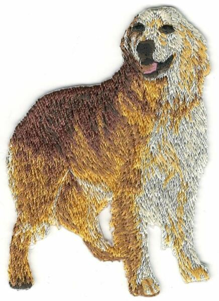 2 1 4quot; x 3quot; Standing Golden Retriever Dog Breed Embroidery Patch $2.99