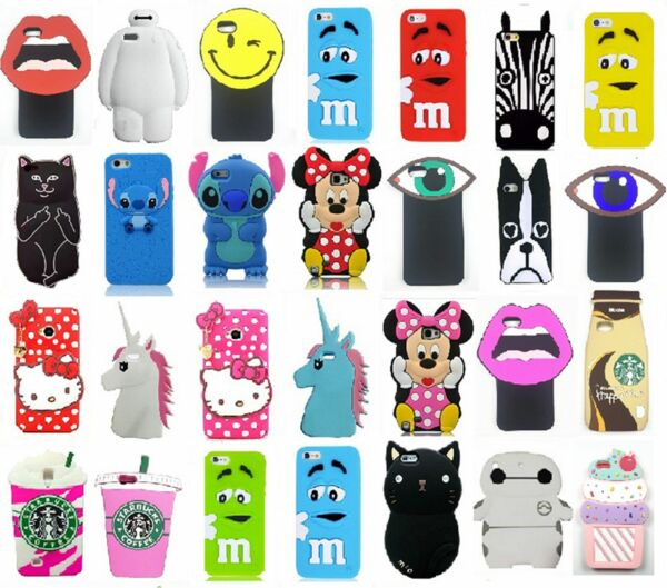 Lovely Animals 3D Cartoon Soft Silicone Gel Back Case Cover For Various Phones 2