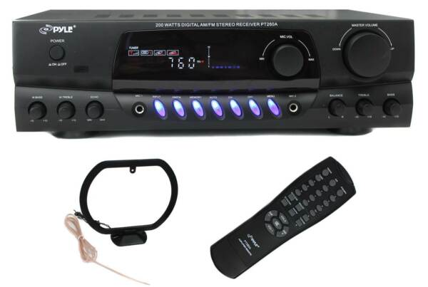 NEW PYLE PRO PT260A 200W Home Digital AM FM Stereo Receiver Theater Audio $77.59