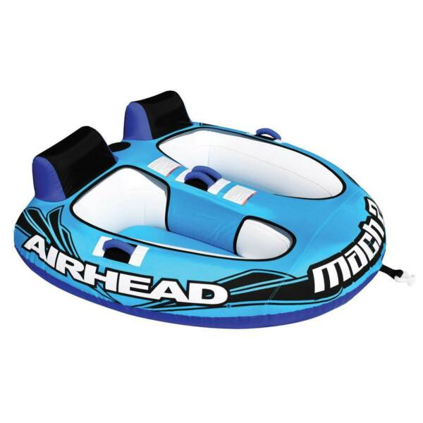 Airhead AHM2 2 Mach 2 Inflatable 2 Rider Cockpit Lake Boating Water Towable Tube $239.99