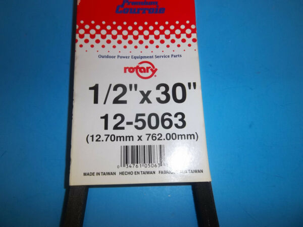 V BELT FITS LAWNMOWER TILLERS EDGERS SNOW BLOWERS 1 2quot; X 30quot; 5063 30 RT