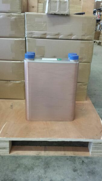 Outdoor Wood Furnace Boiler Brazed Plate Heat Exchanger 150 Plate COMMERCIAL