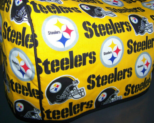 Pittsburgh Steelers Logo Quilted Fabric 2 Slice or 4 Slice Toaster Cover NEW