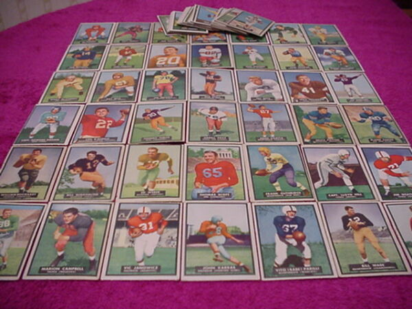 Topps Magic Football Card Set 1951 complete NICE