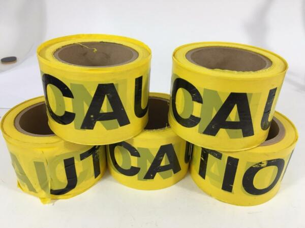 Yellow Barricade Caution Plastic Tape Safety Ribbon  5 Rolls 3