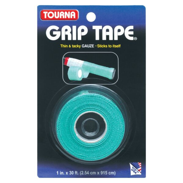 Unique Tourna Tennis Racquet Over Grip Gauze Tape Green 1in by 30 Ft Badminton $7.03