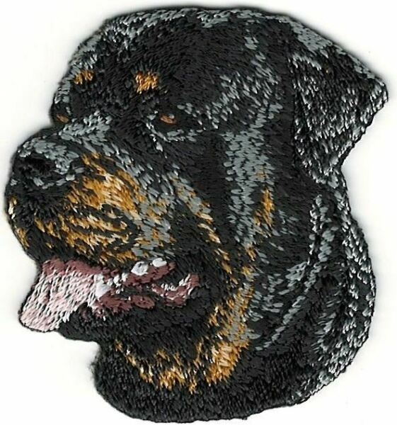 1 7 8quot; x 2quot; Rottweiler Dog Breed Portrait Facing Left Embroidery Patch $5.99
