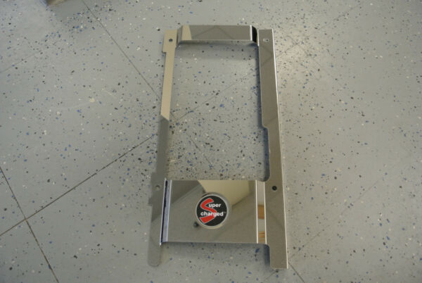2002 06 MINI Cooper S Intercooler Shroud Polished Stainless Cover with Emblem