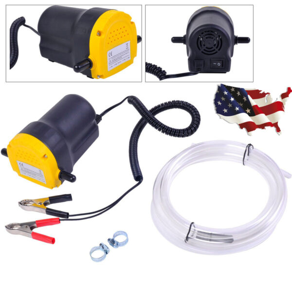 Fuel Fluid Oil Diesel Extractor Electric Transfer Scavenge Suction Pump 12V 5A
