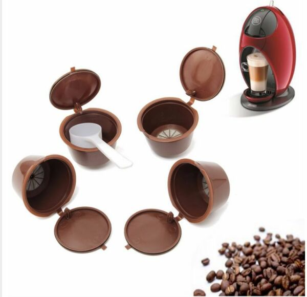 4x Refillable Reusable Compatible Coffee Capsules Pods for DOLCE GUSTO Machines