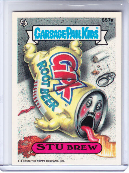 1988 Garbage Pail Kids 14th Series Card #557a Stu Brew *