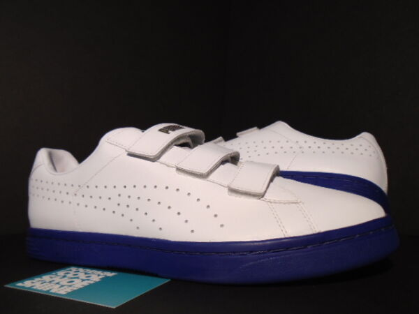 2015 PUMA COURT STAR STRAPS GV SPECIAL WHITE MB ROYAL BLUE GOLD 357723-06 NEW 10