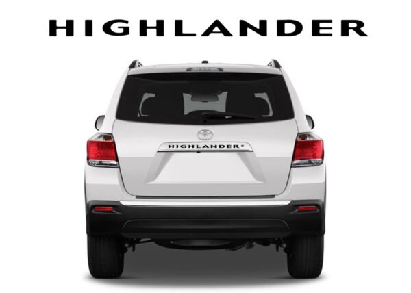 Black Rear Letters Inserts For 2008-2013 Toyota Highlander New Free Shipping $24.99