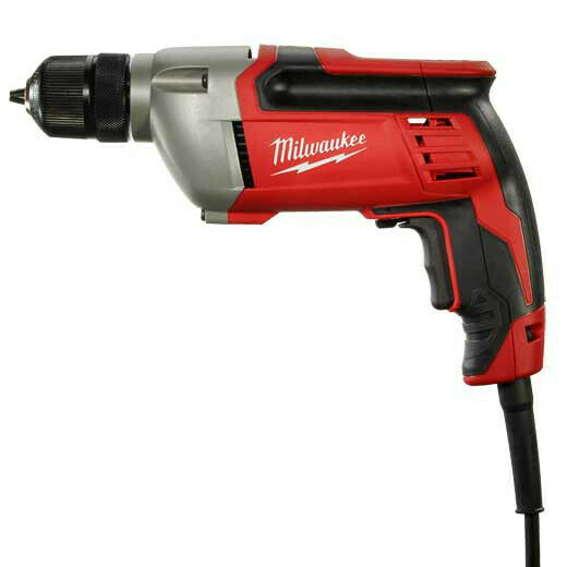 Milwaukee 24020 3/8 in./ 8.0 Amp Powerful Drill with Soft Grip Handle New