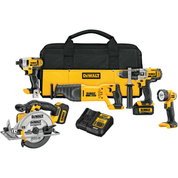 DeWalt DCK590L2 20V MAX 3.0 Ah Cordless Lithium-Ion 5-Tool Combo Kit New