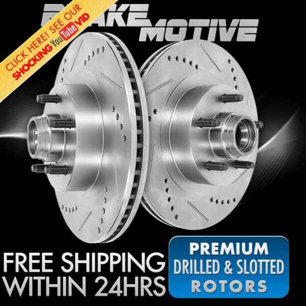 Fits Front Drilled And Slotted Brake Rotors Chevy C1500 Tahoe GMC Savana Yukon