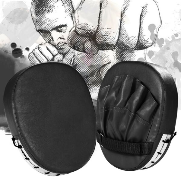 Pair of  Leather Boxing Mitt Training Target Focus Punch Pads and Glove