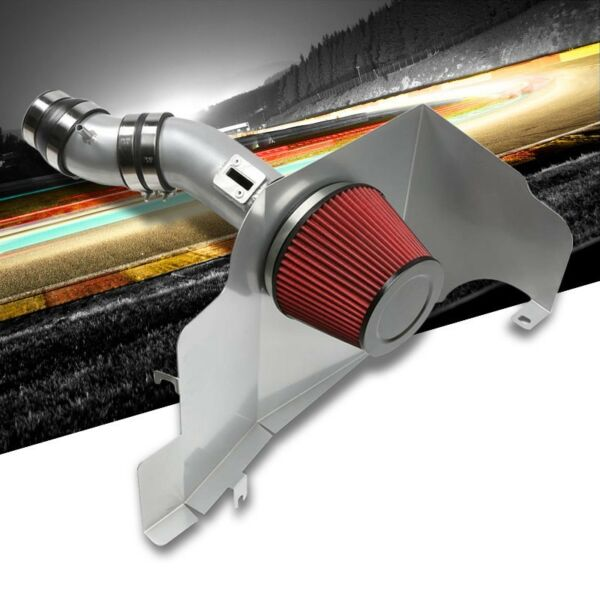 Cold Air Intake Kit Silver PipeFilterHeat Shield For Ford 11 14 Mustang Base V $90.80
