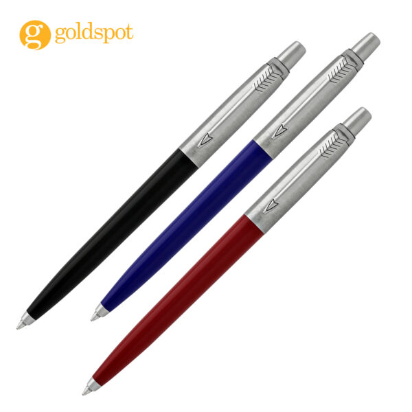 Parker Jotter Ballpoint Pen Set Red Blue Black Black Ink in Box